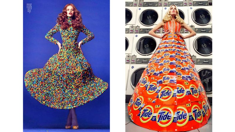 Here Are Some Dresses Made Of Smarties, Detergent Boxes, And Diet Coke Cans