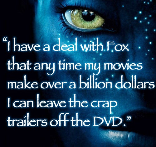 James Cameron Hates Commercials on His DVDs, Too