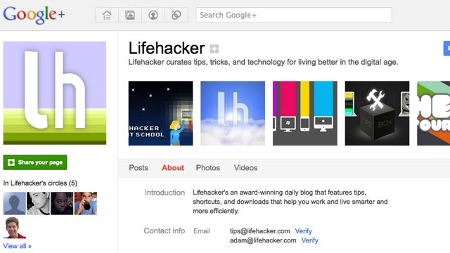 Follow Lifehacker on Google+
