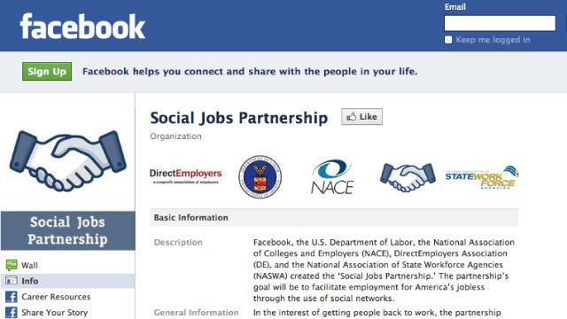 Find a Job and Get Career Advice from The Labor Department's New Social Jobs Partnership Facebook Page