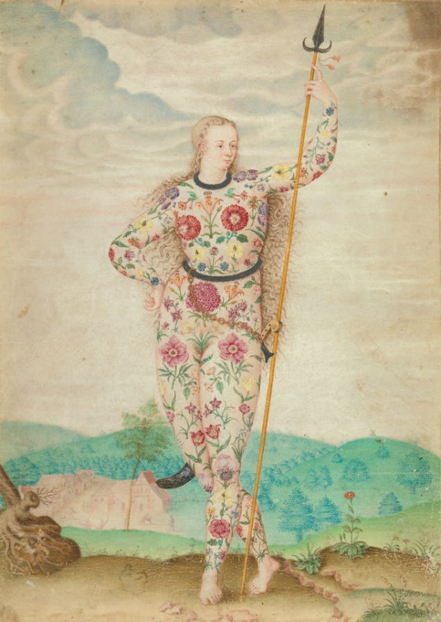 Young Daughter of the Picts, Jacques Le Moyne de Morgues, ca. 1585