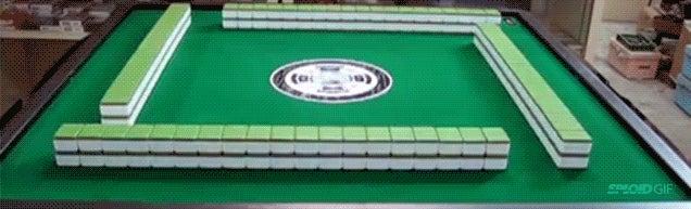 Marvel at this magic mahjong table again and again and again