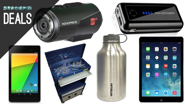 Deals: A Tablet for Everyone, Stainless Steel Growler, Tool Chest