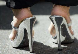 Stilettos: Bad For Feet, Bad For Exercising In, Bad For British Newlyweds