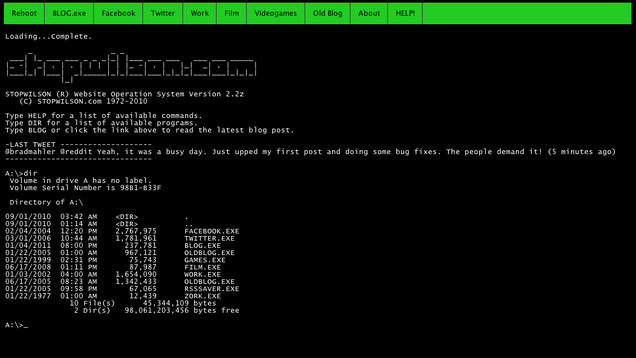 Relive The Glory Days Of DOS...On A Website