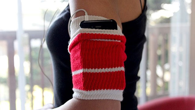 Repurpose a Tube Sock as an MP3 Player-Holding Exercise Armband