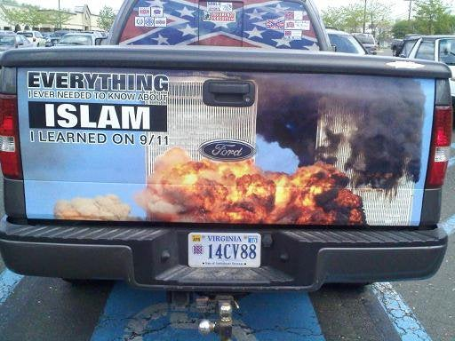 A Picture of 9/11 Is Not a Thing to Put on Your Truck