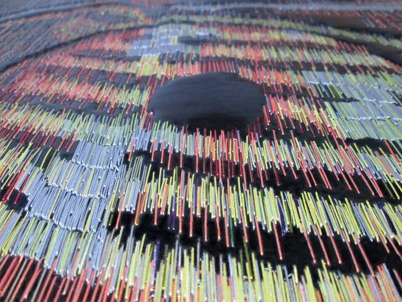 Artist creates detailed Star Wars mosaics using thousands of staples