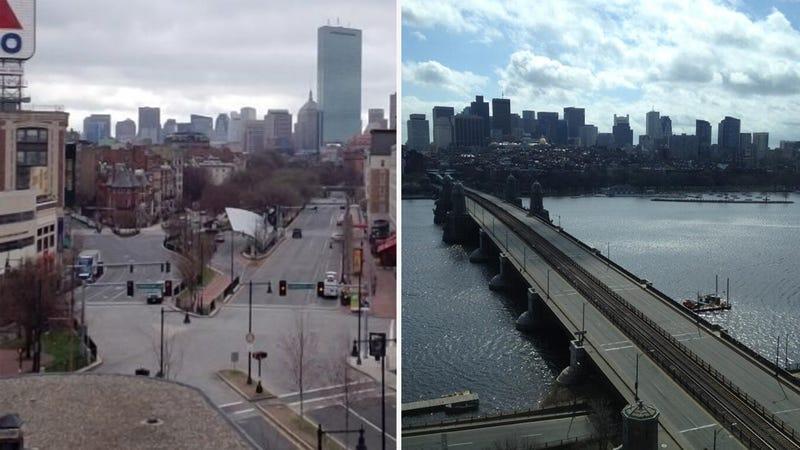 Spooky Photos Of Boston's Deserted Roads