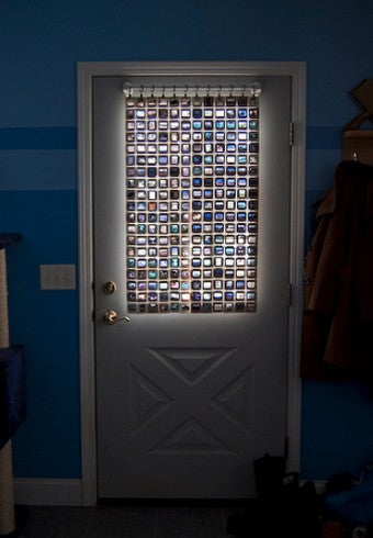 Recycle Old Photo Slides into a Colorful Privacy Screen