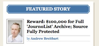 Andrew Breitbart Offers $100k for Full JournoList Archives