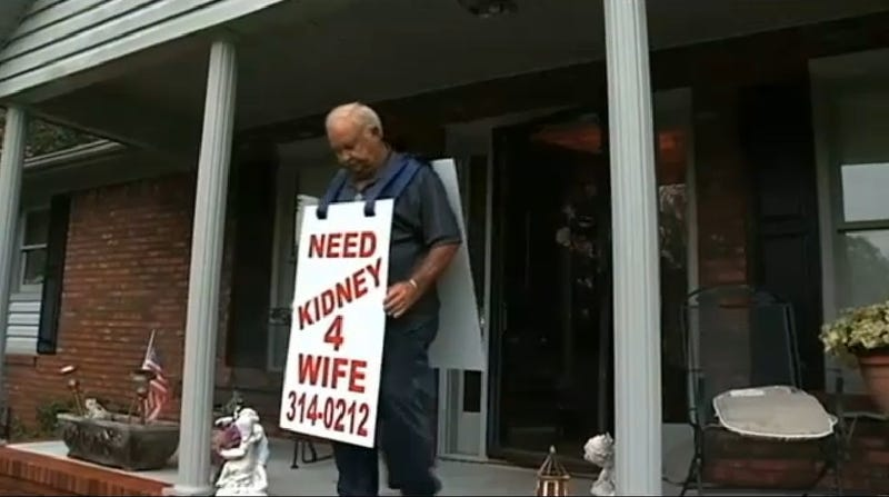 Husband Asking People on the Street for a Kidney for His Wife Gets One