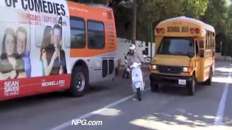 Watch Vespa-Riding Psychopath Gwyneth Paltrow Cut Off A School Bus