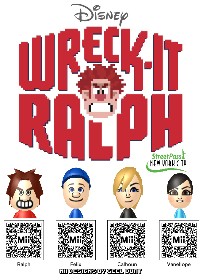 Bring Wreck-It Ralph to Your 3DS With These Mii Codes
