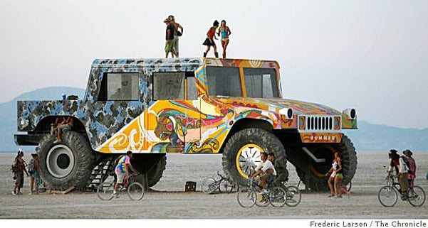 Gigantic Burning Man Hummer Is A Bummer