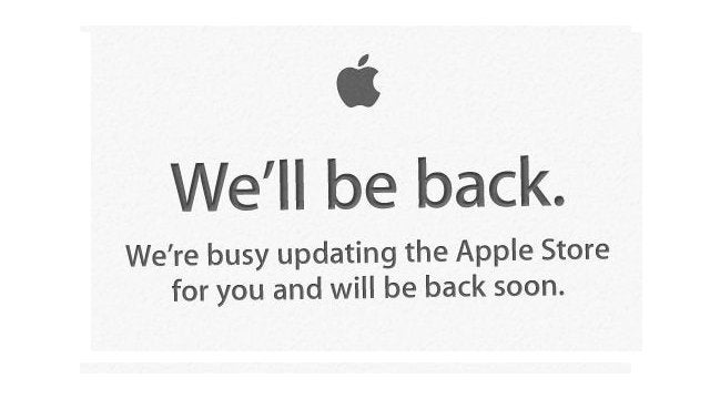 The Apple Store Is Updating