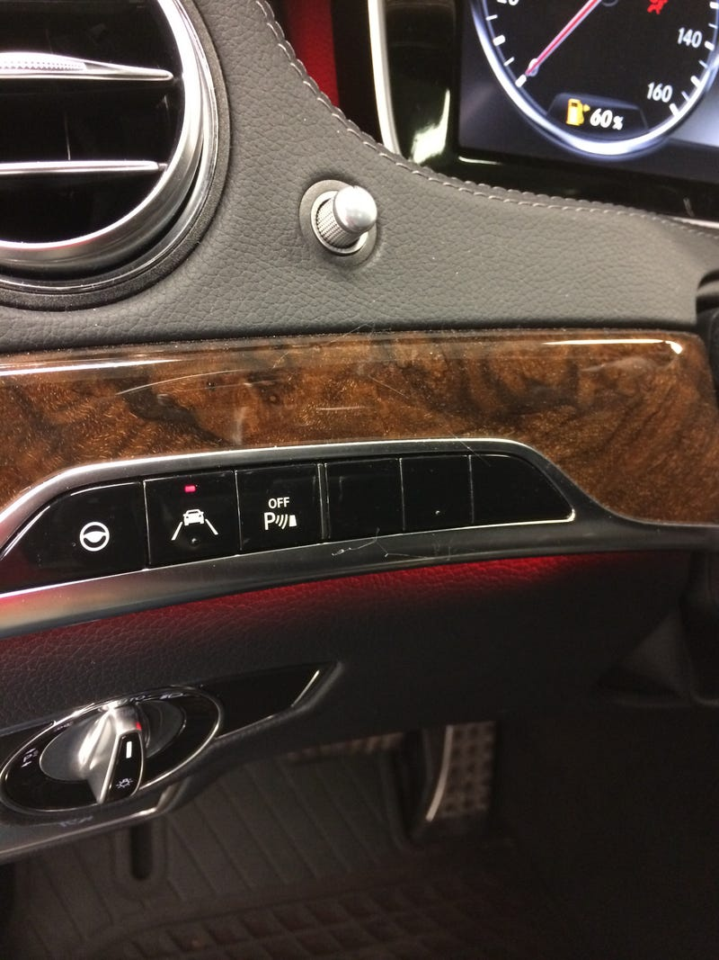 Even a $130k S class has blank buttons.