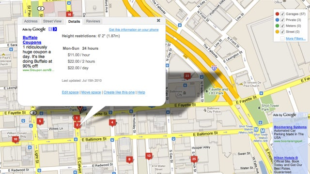 Parkopedia Maps and Prices Parking Nearly Anywhere