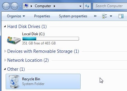 Add Recycle Bin and More to My Computer