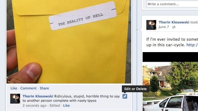 You Can Now Edit Your Comments on Facebook