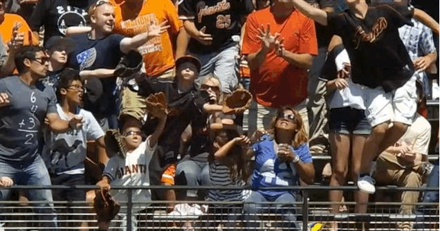 Home Run Explodes In Woman's Beer Cup