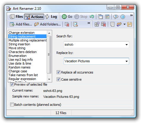 Ant Renamer is a Lightweight but Powerful Renaming Utility