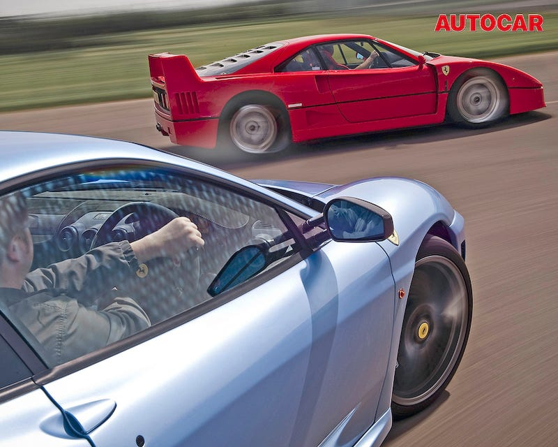 Autocar Pits Ferrari F40 Against F430