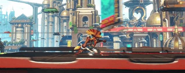 how to get past builder in ratchet and clank