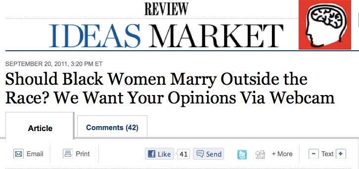 The Wall Street Journal Wonders: Should We Let Blacks Marry Whites?