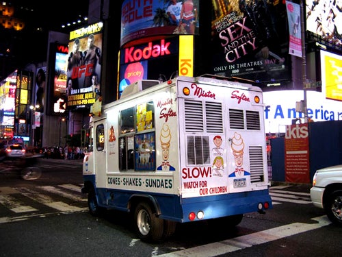 Mister Softee Truck (Briefly) Doubles as West Village Party Shuttle