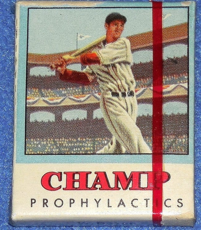 Want To Buy Some Vintage Condoms With Ted Williams's Face On Them?