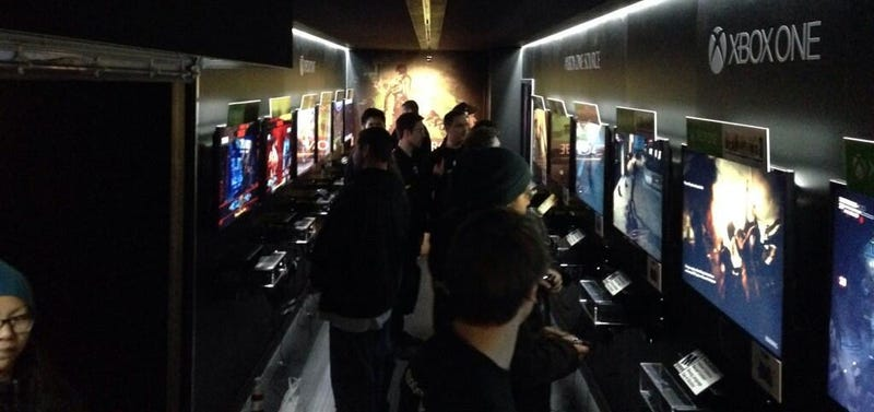 Giant Xbox One Opens, Zombies Come Pouring Out