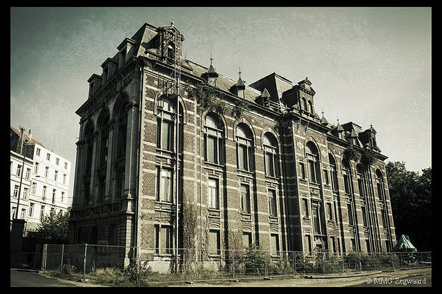 This creepy abandoned veterinary school would make a perfect horror movie set