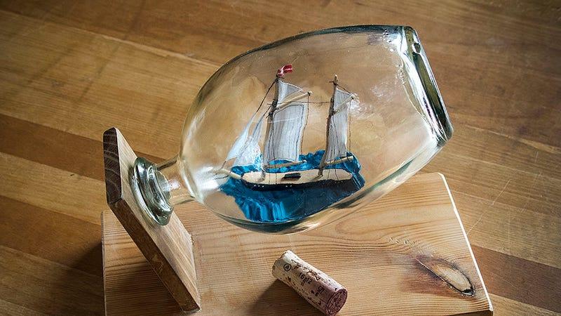 Use Rubber Thread For Easier Ships in Bottles