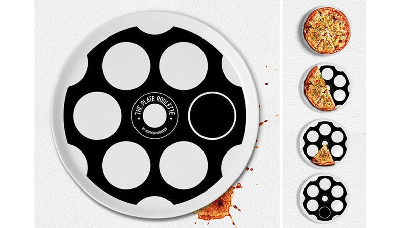 A Quick Game Of Plate Roulette Decides Who Pays For Pizza