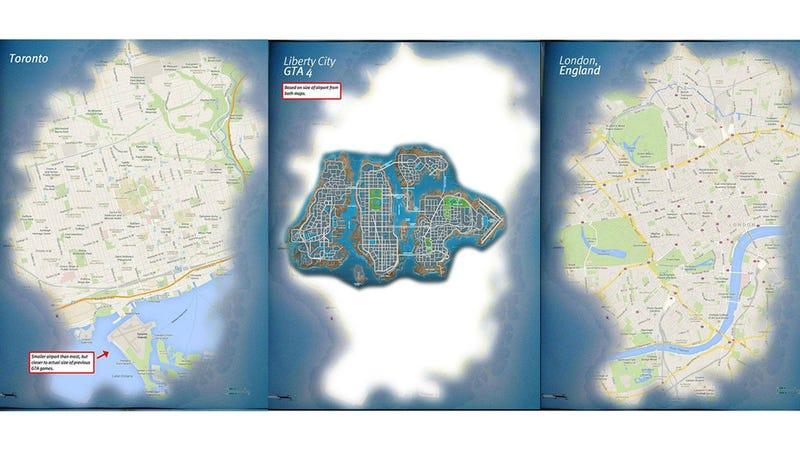 Grand Theft Auto V's Map Versus Major Cities