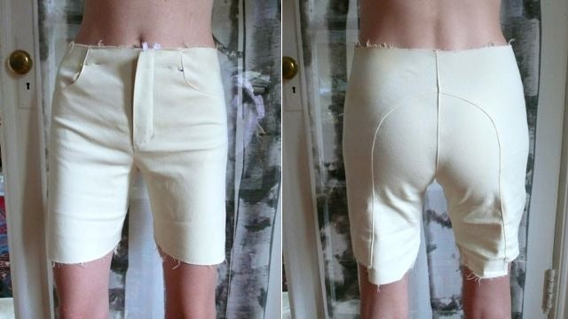 How To Make A Pair Of White Short-Shorts