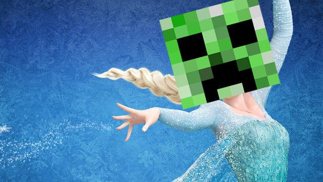 """""""Let It Go"""" Recreated in Minecraft Won't Bother You Anyway"""