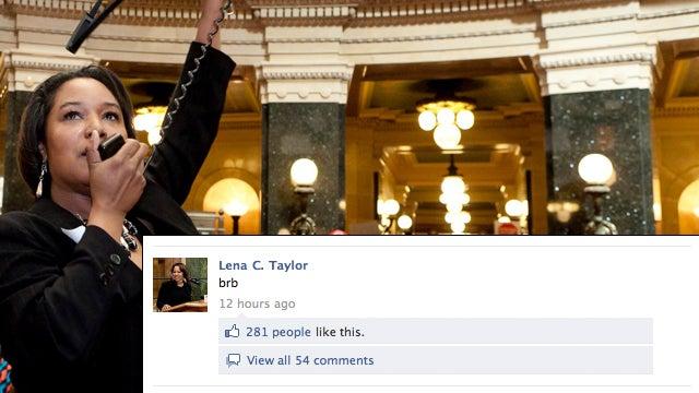 Fugitive Wisconsin Senator Updates Facebook: 'BRB'