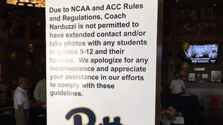NCAA Rules Make Pitt's Pat Narduzzi Sound Like A Huge Creep