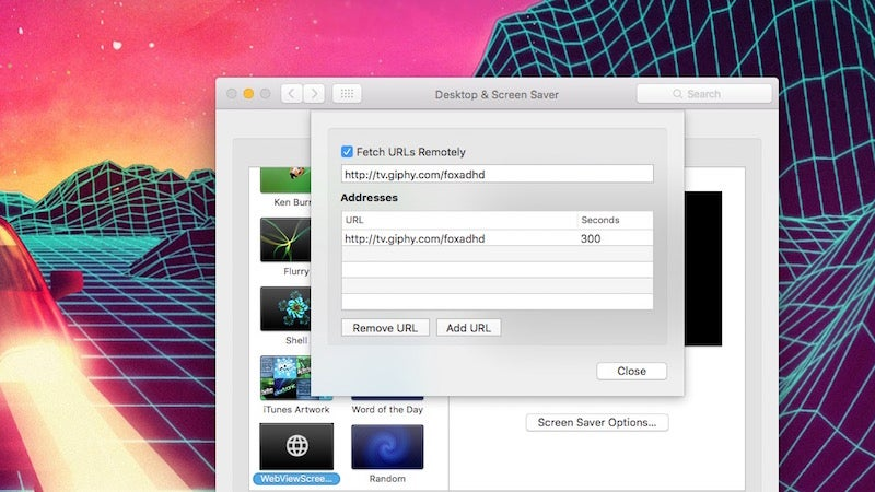 WebViewScreenSaver Turns Any Web Site Into a Screen Saver on Mac