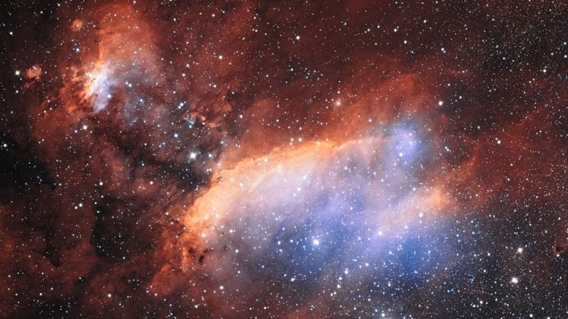 The beautiful Prawn Nebula has been hiding in the wrong wavelengths