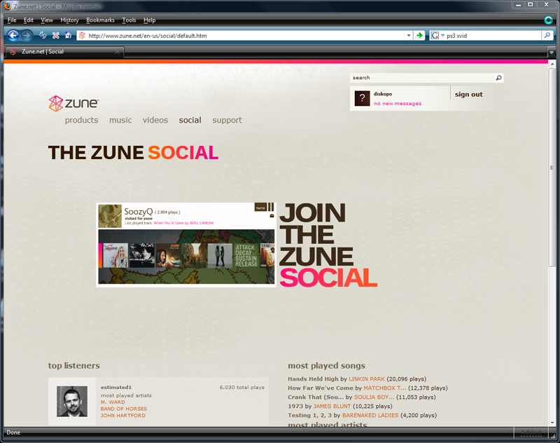 Zune Social Lets You Peep On Your Friends' Music Habits