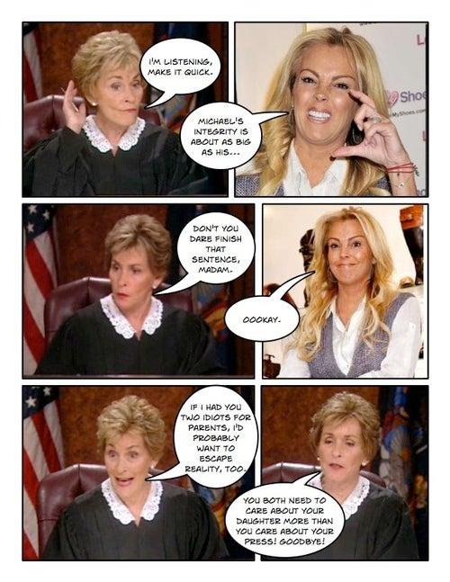 Comic Confrontations: Judge Judy Vs. Michael Lohan