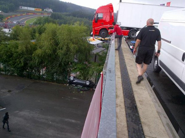 This Is How You Crash Four Ferraris At Once At Spa