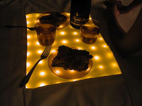 LED Picnic Blanket Classes Up Outdoor Dining