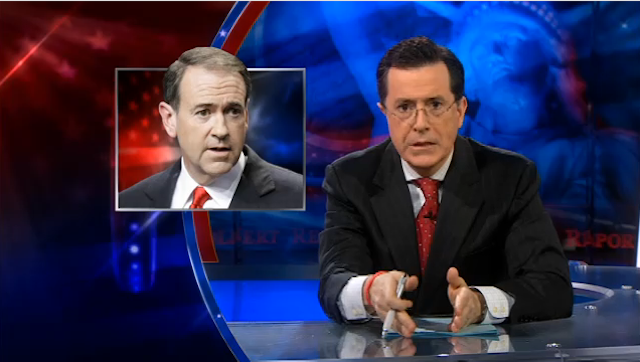 Stephen Colbert Puts Mike Huckbee on Notice For His Remarks About Natalie Portman
