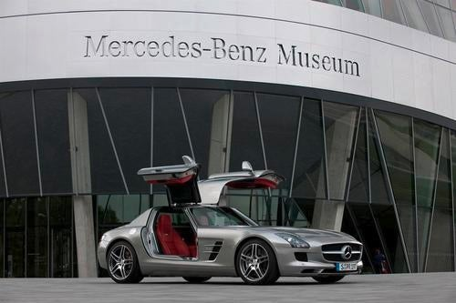 Mercedes SLS AMG Takes Flight