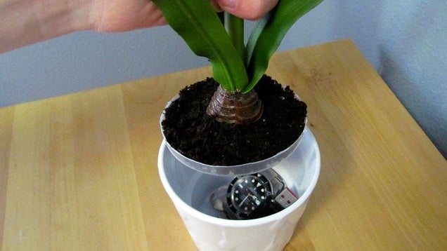 Build a Hidden Compartment in a Fake Potted Plant to Hide Valuables
