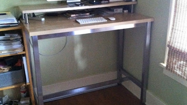 Assemble an Affordable Standing Desk from Ikea Parts